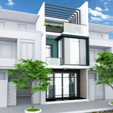 Interior design with 1 ground floor and 2 floors for townhouses in Thu Duc.